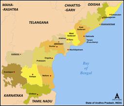Andhra Pradesh District Map