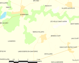 Mapa obce Marquivillers