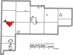 Location of St. Marys in Auglaize County