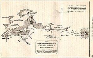 Keelung - Map of Keelung in 1856.