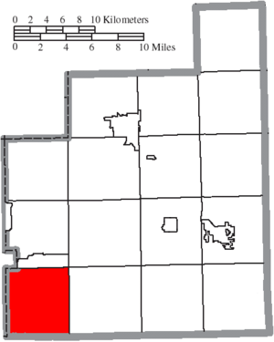 Bainbridge Township, Geauga County, Ohio - Image: Map of Geauga County Ohio Highlighting Bainbridge Township