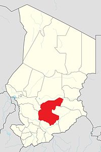 Map of Chad showing Guéra.
