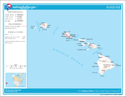 Map of Hawaii NA