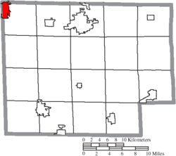 Location of Bellevue in Huron County