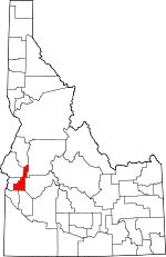 Map of Idaho highlighting Gem County.svg
