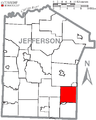 Map of Jefferson County, Pennsylvania Highlighting Henderson Township.PNG