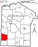 Map of Jefferson County, Pennsylvania Highlighting Ringgold Township