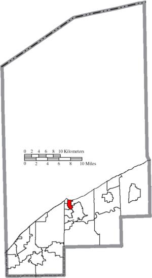 Fairport Harbor, Ohio - Image: Map of Lake County Ohio Highlighting Fairport Harbor Village