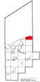 Map of Lorain County Ohio Highlighting Avon Lake City.png