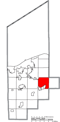 Location of Eaton Township in Lorain County