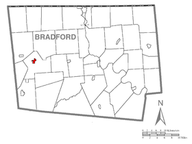 Map of Troy, Bradford County, Pennsylvania Highlighted.png