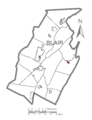 Map of Williamsburg, Blair County, Pennsylvania Highlighted.png