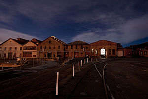 Mare Island Shipyard at Night 1