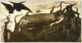 Margaret Fernie Eaton, Brunhilde Asleep, pyrography, 1902.tif