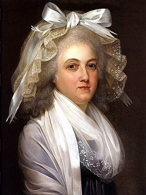 Mob cap - Image: Marie Antoinette at the Temple Tower