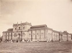 Marimallappa's High School, Mysore (1890s) by an unknown photographer, from the Curzon Collection's 'Souvenir of Mysore Album'.jpg