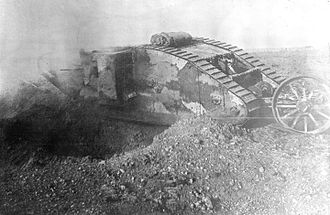 Battle of Flers–Courcelette - Image: Mark I series tank in action