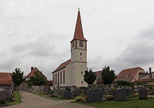 Marktbergel - Image: Marktbergel, die evangelisch lutherische Pfarrkirche Sankt Veit Dm D 5 75 143 20 foto 7 2016 08 05 12.41
