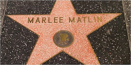 matlins star at the hollywood walk of fame in los angeles california