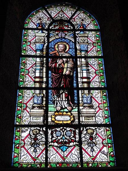 Maroilles (Nord, Fr) église vitrail 12 apôtres 05