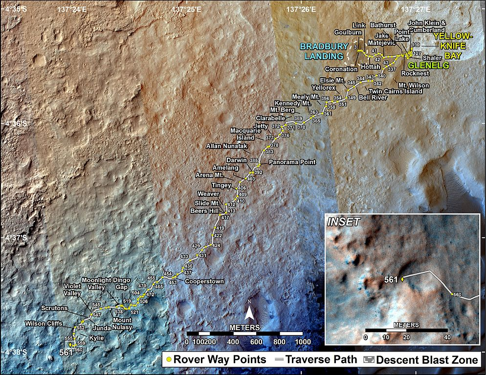 2014 Mars Rover Curiosity Map - Pics about space