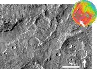 Martian impact crater Caxias based on day THEMIS.png
