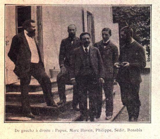Мартинисты: слева Папюс, в центре Филипп, правее Седир