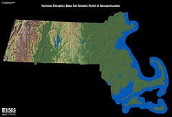 Geography Of Massachusetts Wikipedia - Massachusetts physical map