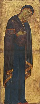 Master of the Blue Crucifixes or Master of the Franciscan Crucifixes. The Mourning Madonna. c.1272. NGA, Washington1.jpg