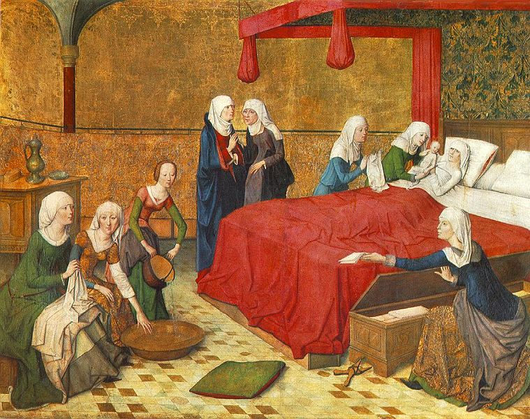 Master of the Life of the Virgin - The Birth of Mary - WGA14589