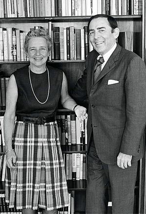 Matilda White Riley - Matilda White Riley and husband, John Riley, Bowdoin College, 1972