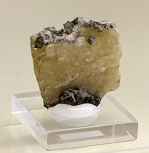 Matlock, Derbyshire - Specimen of Matlockite in the Mineralogical Museum, Bonn
