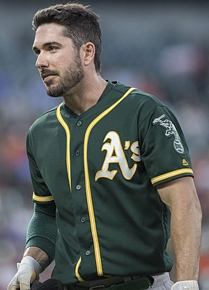 Matt Joyce (baseball) - Joyce with the Oakland A's in 2017.