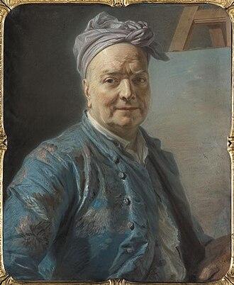 Louis de Silvestre - Portrait of de Silvestre by Maurice Quentin de La Tour