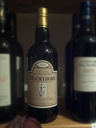 Maury AOC - A bottle of Maury wine from the estate Maury Doré.
