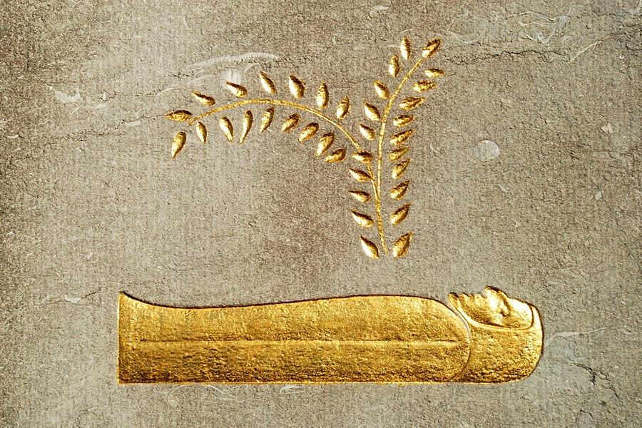 Belgique - Brabant wallon - Court-Saint-Etienne - Mausolée Goblet d'Alviella - Symbole de la vie