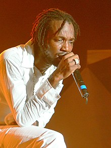 Mavado performs on stage for Dancehall Night at Reggae Sumfest 2008.jpg
