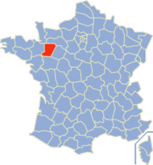 Communes of the Mayenne department - Image: Mayenne Position