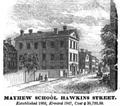 MayhewSchool HawkinsSt Snow HistoryOfBoston 1828.png