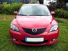 Mazda 3 Sport 1.6 MZR Exclusive Tornadorot Front.JPG