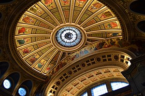McEwan Hall - Restored interior dome of the McEwan Hall, University of Edinburgh (2017).
