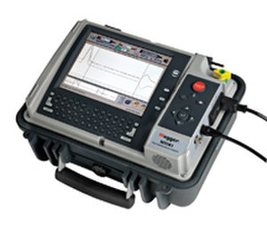 Signal reflection - Time-domain reflectometer for electrical cable fault detection