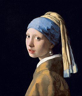 <i>Girl with a Pearl Earring</i> 1665 painting by Johannes Vermeer, in the collection of the Mauritshuis
