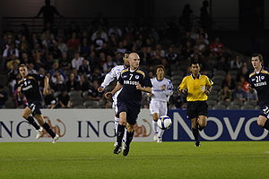 History of Melbourne Victory FC - Melbourne Victory v Gamba Osaka at Etihad Stadium in April 2008