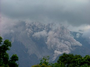 2010 eruptions of Mount Merapi - Pyroclastic flows on Mount Merapi from an earlier event (2007)