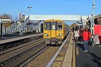 Aintree railway station - Image: Merseyrail Class 507, 507017, Aintree railway station (geograph 3786889)