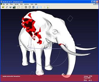 MeshLab - Image: Mesh Lab snapshot elephant