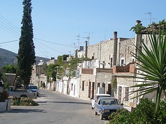 Mesta, Greece - The outside of the village