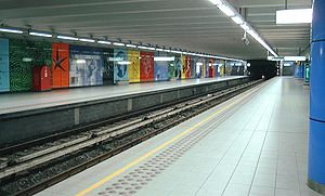 Heysel/Heizel metro station - Image: Metro Brussel Heizel