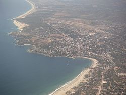 View of Puerto Escondido from the air